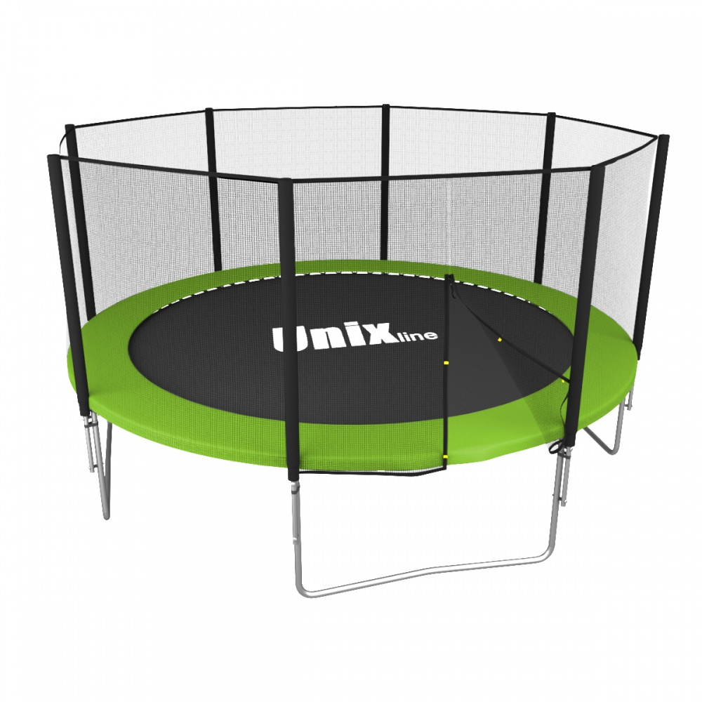 Unix Line Simple 12Ft (Green) outside из каталога батутов в Санкт-Петербурге по цене 26890 ₽