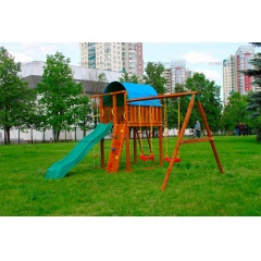 Детский городок Jungle Gym Villa+SwingModule Xtra