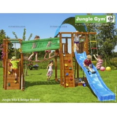 Детский городок Jungle Gym Villa+BridgeModule