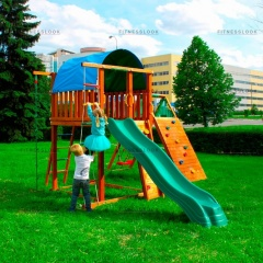Детский городок Jungle Gym Villa + Climb module Xtra