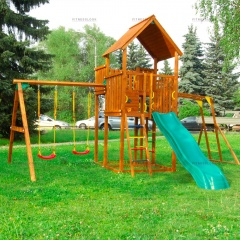 Детский городок Jungle Gym Jungle Palace + Swing X'tra + рукоход